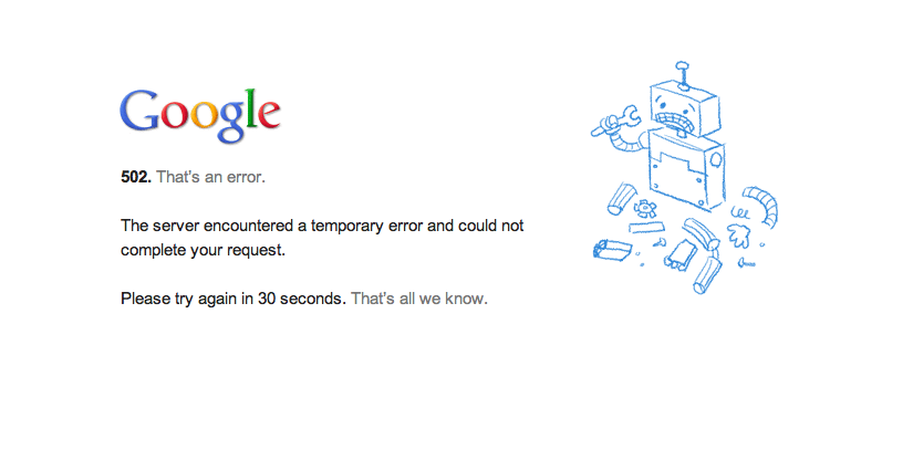 It's a Thursday. Pigs are flying, Google is down