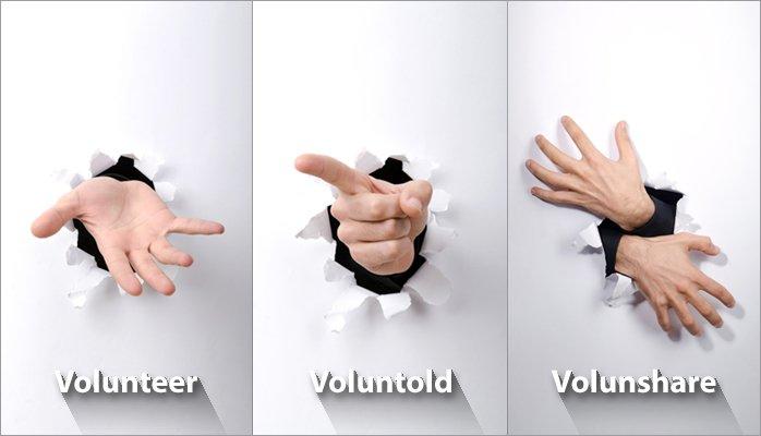 Volunteer / Voluntold / Volunshare